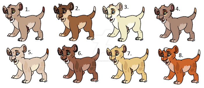 Some New Cub Adoptables (GONE) by Claire-Cooper