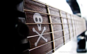 Guitar Skull Wallpaper by KatherineDavis