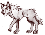 Vintage Wolf Sketch 2009 by Some-Art