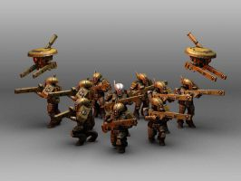 Tau Fire Warrior squad by toneloperu