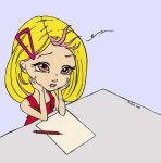 Blank Page Syndrome Colored by Maiko-Girl
