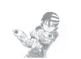 Soul Eater: Death the Kid (scan) by Excalibur49