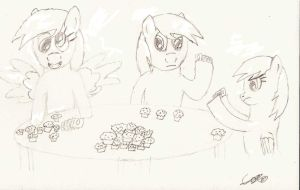 Derpy Playing with Herself by CobaltBrony