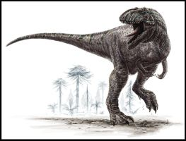 Giganotosaurus carolinii by dustdevil