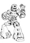 Dust Man lineart by XionDeathbringer