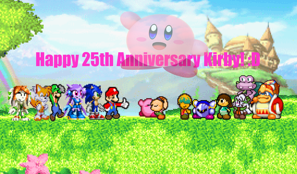 Kirby's 25th Anniversary! by DrizzlyScroll1996