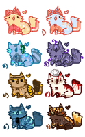 Charity Kitty Adopts [PRICES REDUCED] by JeanaWei