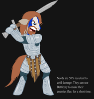 Ponified Skyrim loading screen: Nord by glue123