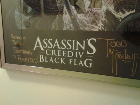 Black Flag Poster - w/ An added touch by monkey540