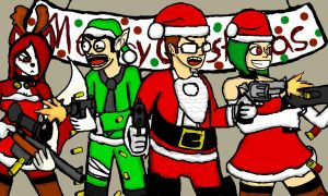 Merry Zombie Christmas by vaultboy28