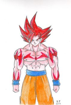 Super Sayan God Goku by Turock-X