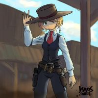 Western girl by KaosNoKamisama