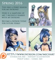 Patreon: Spring 2016 Perks Peek by mechangel2002