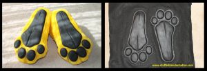 Custom feet pads (for sale) by stuffedpanda-cosplay