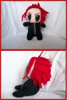 Chibi Axel Plushie from KH2 by CuteGio