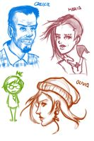 Training - face sketches 1 by HaluzCZ