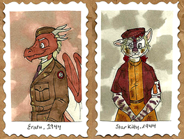 1940's Badges -- Eratu + StarKitty by Geistlicher