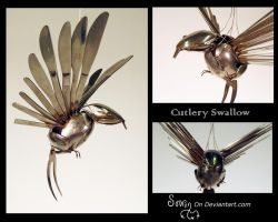 Cutlery Swallow by Sovriin