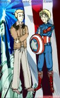 Captain Alfred and Steve Jones colored by Kurofer-Aldred