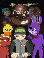 Five Night's at Freddy's (Possible) Comic Cover by CardboardDreamCube