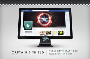 Captain's Shield Timeline Cover by TheAL