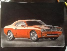 Dodge Challenger drawing by MelieseReidMusic