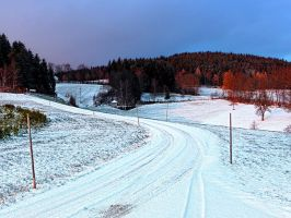 Country road through winter wonderland II by patrickjobst