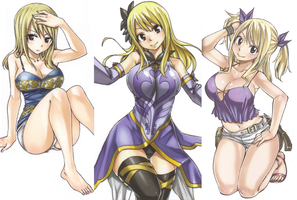 Fairy Tail Inner Covers Lucy by HibouMan