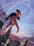 Spiderman leaps by coloring by DelHewittJr