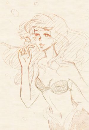 Sketch Ariel by the-suns-moon