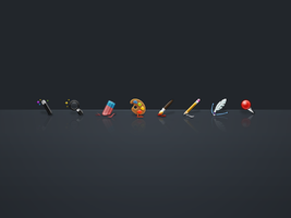 Photoshop Tools icons PSD by JackieTran