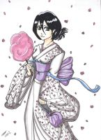 Redrawn: Sakura Rukia by StrawberryLoveAlways