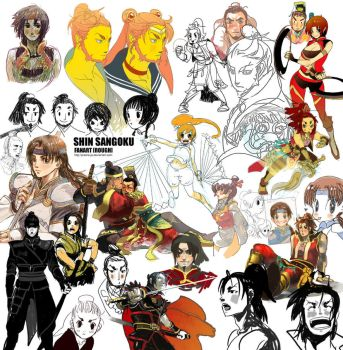DYNASTY WARRIORS-rough fanart by prema-ja