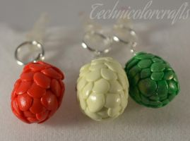 Three Dragon Eggs (Game of Thrones) Mobile Plug by technicolorcrafts