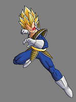 Vegeta SSJ, Old Saiyan Armor by hsvhrt