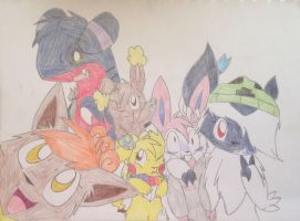 Group Photo (redraw) by Pikachugirl345
