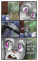 Tired Page Five - Nick and Judy Comic by CharlotteRay