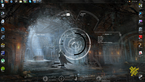 My rainmeter Desktop by Phoenix-ID