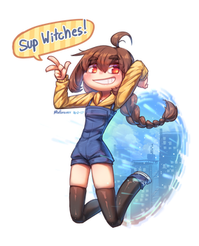 [Commission] Sup Witches! by Porforever