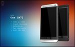 HTC One Slant PSD by danishprakash