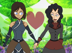 Korra And Asami Together Again ! by SatoshiTakeo