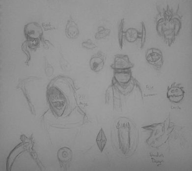 Terraria sketches by ShadowMaster4213