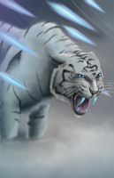 Ice Tiger by GeekingOutArt