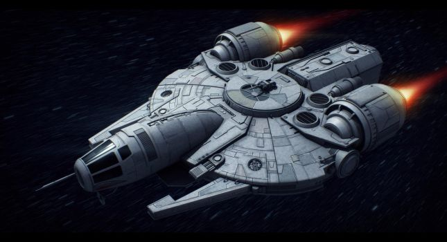 Corellian YT-1760 Freighter Commission by AdamKop