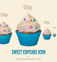 Sweet Cupcake Icon by nyncuk