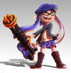 Inkling with Splatling by TooterDoodles