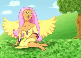 She's too Fluttershy by tricksterchild