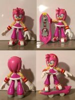 Sonic Free Riders Amy Rose custom figure by HyperShadow92