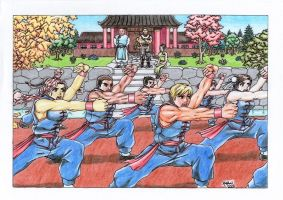Young Kung Fu Students by MemoryTreasures