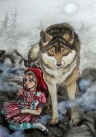 Little Red and The Wolf by RaggedVixen